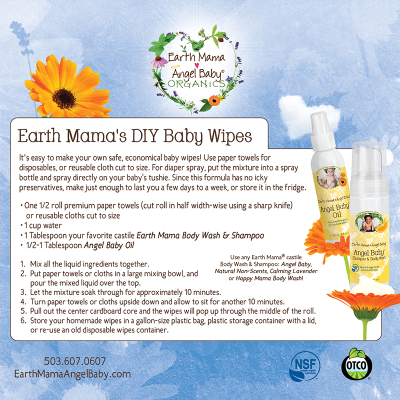 How to Make Your Own Non-toxic Baby Wipes